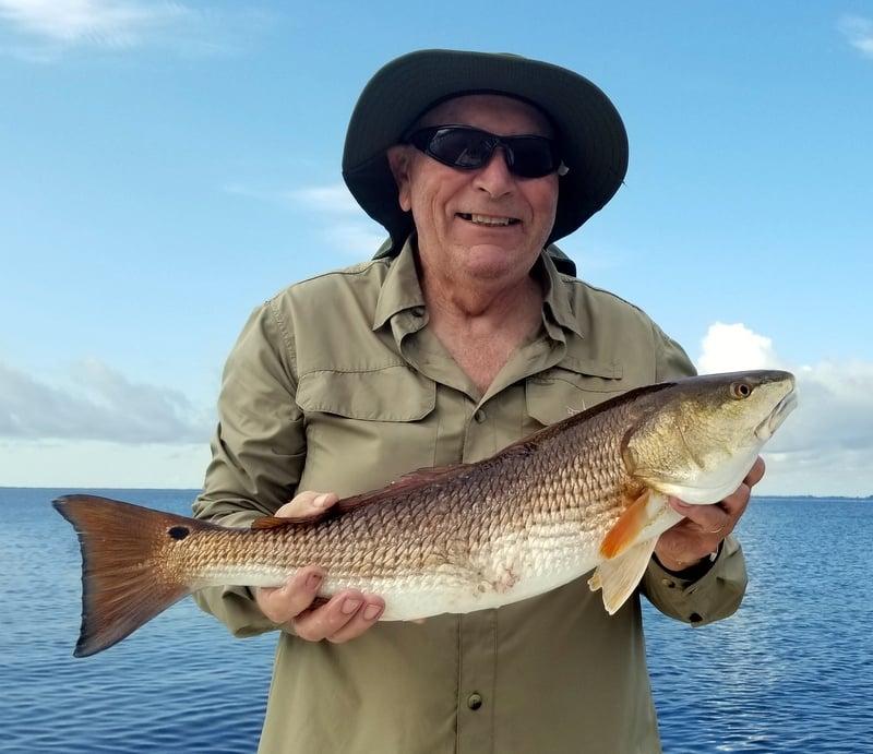 Fishing Slot-Size Redfish on the Emerald Coast in October
