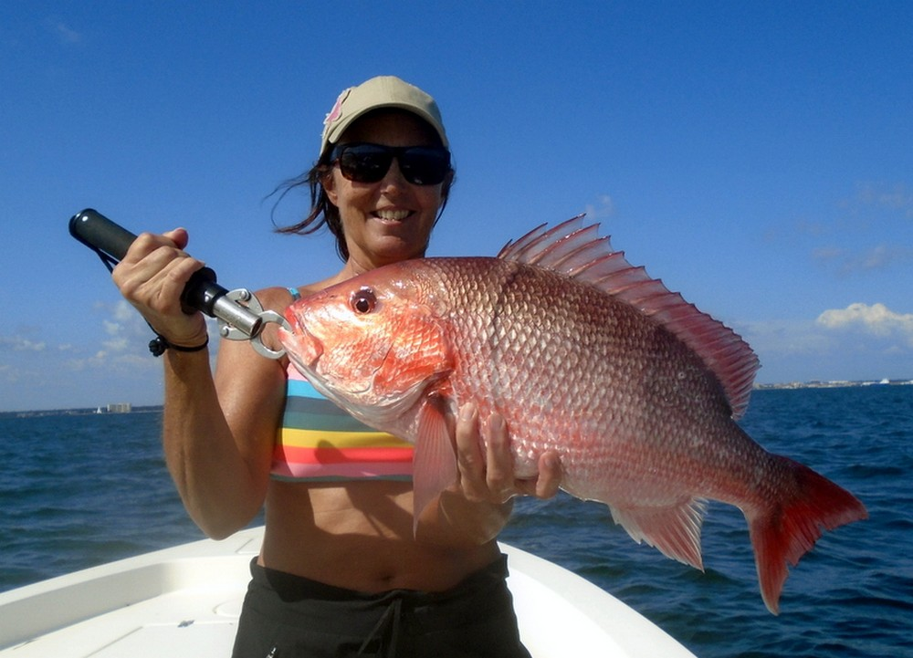 Fishing Red Snapper Pennsacola Bay