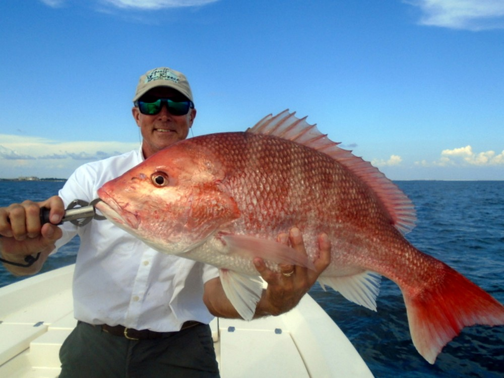 Capt Dave with Red Snapper Pensacola Fishing